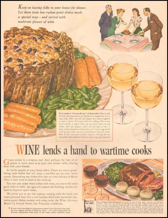 wine wartime rationing